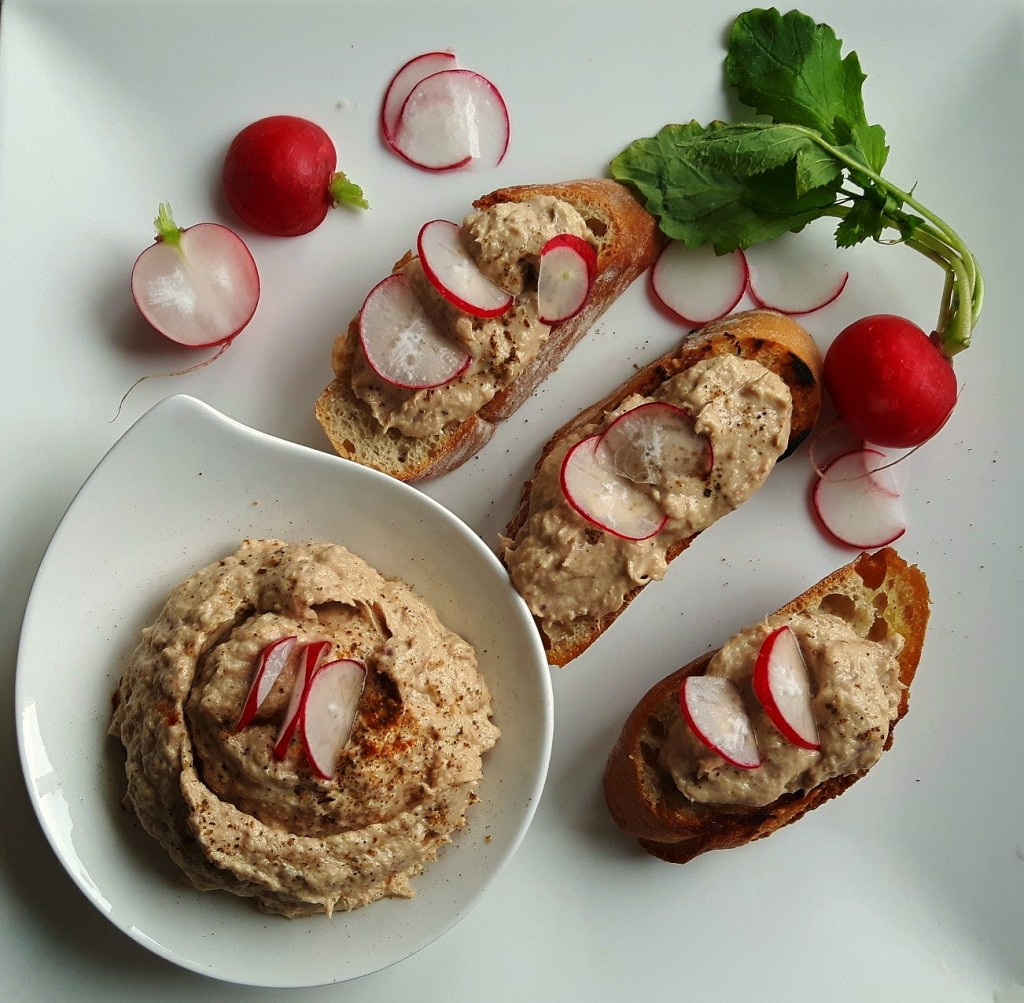 The simply beautiful, Tuna Mousse with Harissa powder